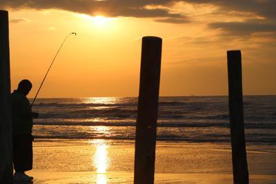 Fisherman at Sunrise, Galveston Is