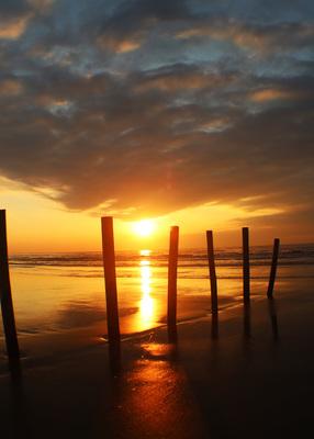 Stormy Sunrise, Galveston Island, TX