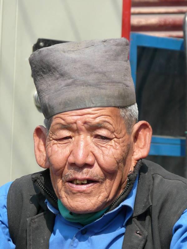 Mann in Darjeeling, Indien
