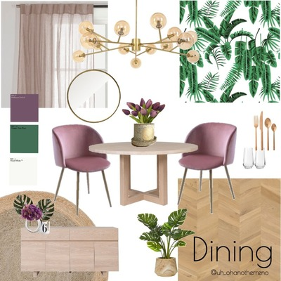 Palm Springs Dining Concept Board