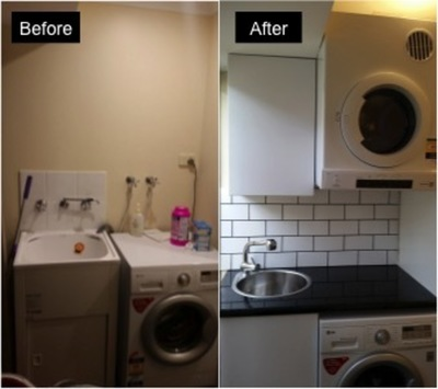 Milroy St Laundry Before/After