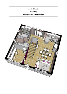 SketchUp 3D Floorplan Visualisation