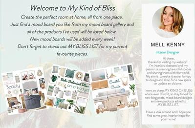 My Kind of Bliss Website- Website Preview